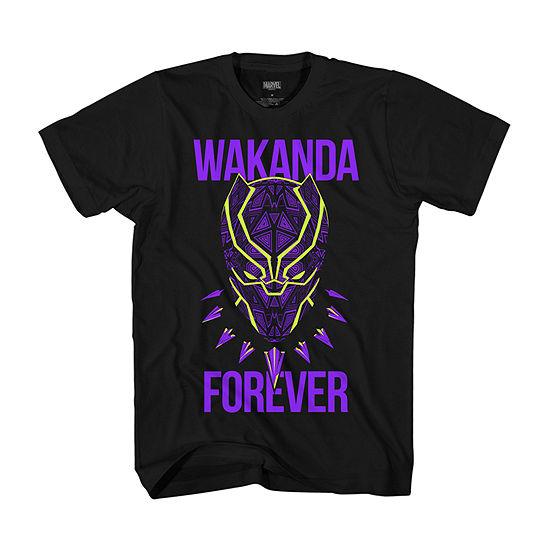 Boys Crew Neck Short Sleeve Black Panther Graphic T Shirt Preschool Big Kid