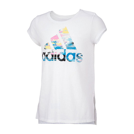 Adidas Girls Round Neck Short Sleeve Graphic T Shirt Preschool Big Kid