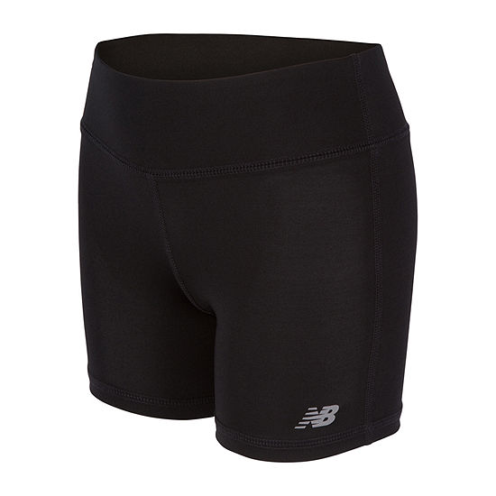 New Balance Big Girls Mid Rise Moisture Wicking Pull-On Short
