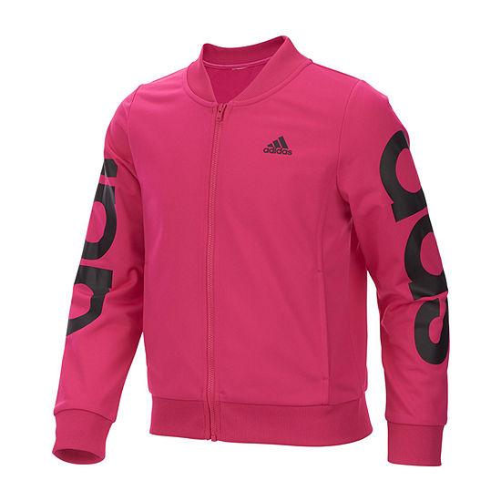 adidas Girls Lightweight Track Jacket-Big Kid