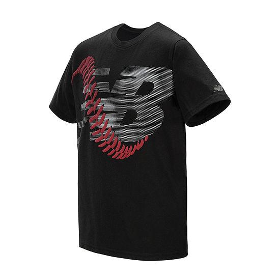 New Balance Boys Round Neck Short Sleeve Graphic T-Shirt Preschool