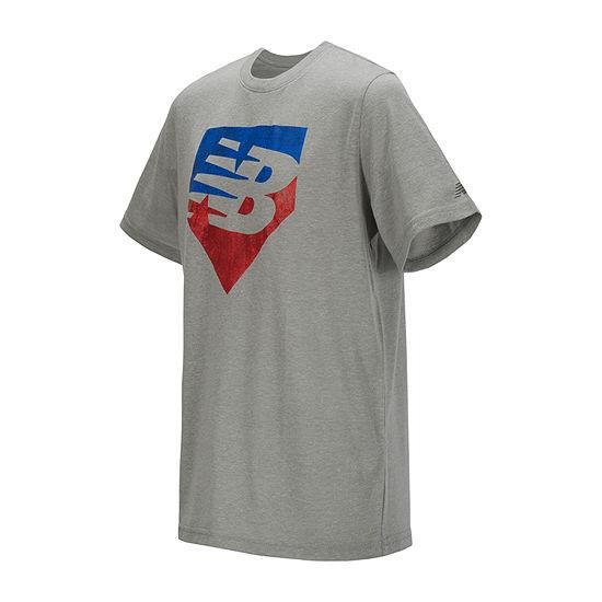 New Balance Boys Round Neck Short Sleeve Graphic T-Shirt - Preschool