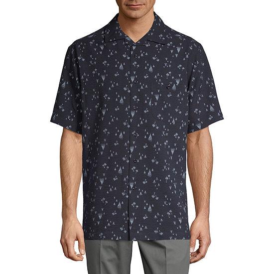 Haggar Mens Short Sleeve Button-Front Shirt
