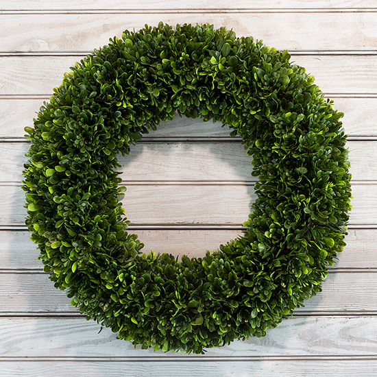 Round 19.5 in Artificial Boxwood Wreath