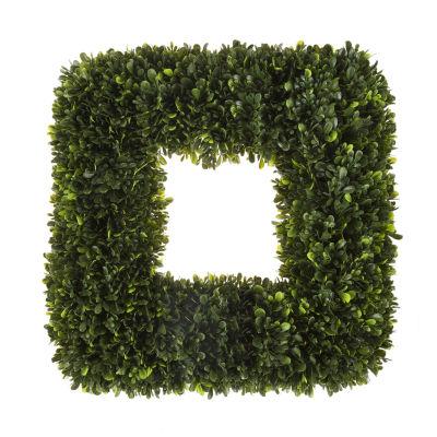 Square Artificial Boxwood Wreath