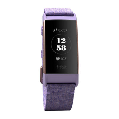 Fitbit Charge 3 Unisex Purple Smart Watch-Fb410rglv