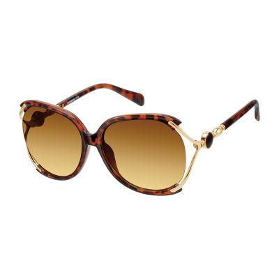 South Pole Womens Half Frame Round UV Protection Sunglasses
