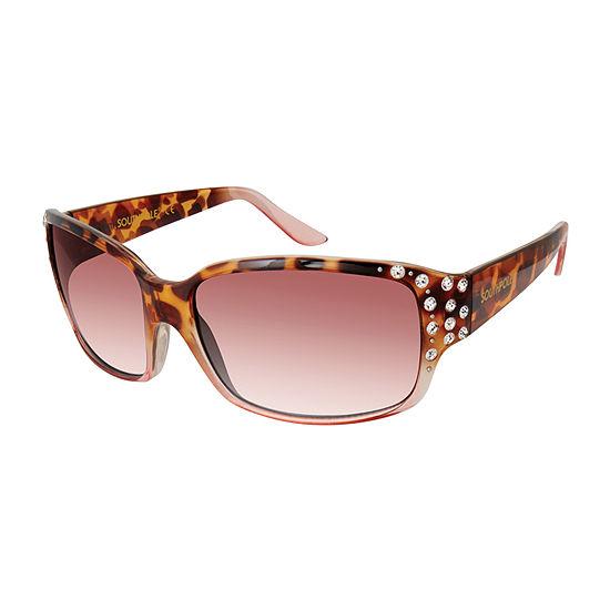 South Pole Womens Full Frame Rectangular UV Protection Sunglasses
