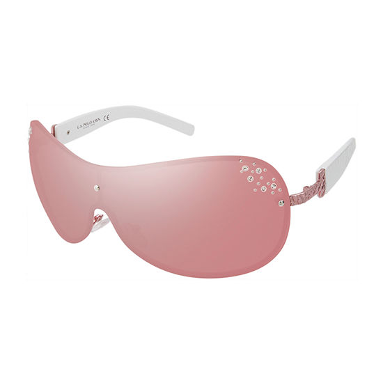 Us Polo Assn. Womens Rimless Shield UV Protection Sunglasses