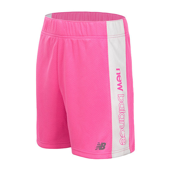 New Balance Girls Mid Rise Moisture Wicking Basketball Short - Preschool