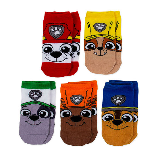 Paw Patrol Boy's 5 Pair Low Cut Socks