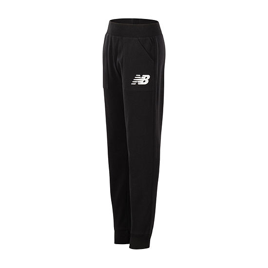 New Balance Girls Mid Rise Cuffed Jogger Pant - Preschool / Big Kid