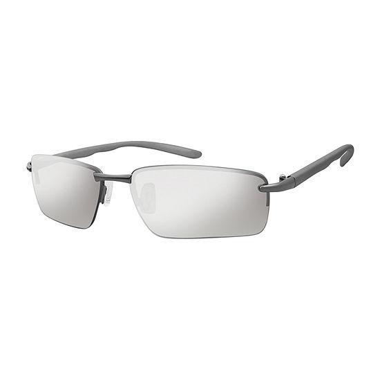 Arizona® Semi Rimless Sport Rectangular Sunglasses