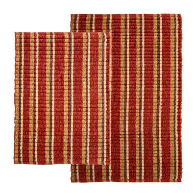 Silk Ribbon 2 Piece Rug Set
