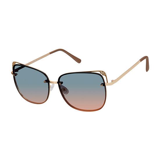 South Pole Womens Rimless Cat Eye UV Protection Sunglasses