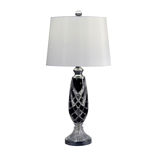 Dale Tiffany Charcoal Lead Handcut Crystal Table Lamp