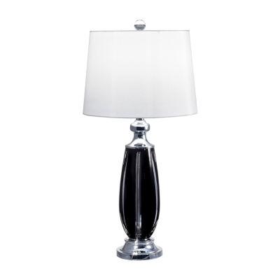 Dale Tiffany Sable Black Lead Handcut Crystal Table Lamp