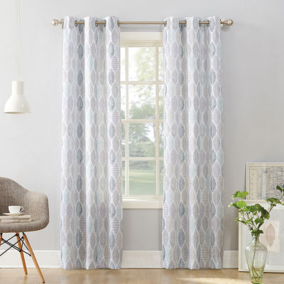 No 918 Valerie Mikko Light-Filtering Grommet-Top Single Curtain Panel