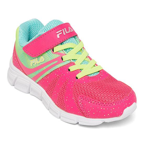 Fila Gammatize Strap Little Kid/Big Kid Girls Hook and Loop Running Shoes