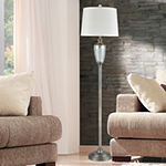 "Dale Tiffany Salem 60""H Lead Handcut Crystal Metal Floor Lamp"