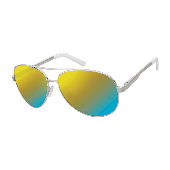 Arizona® Aviator Sunglasses with Multi Colored Mirrored Lens