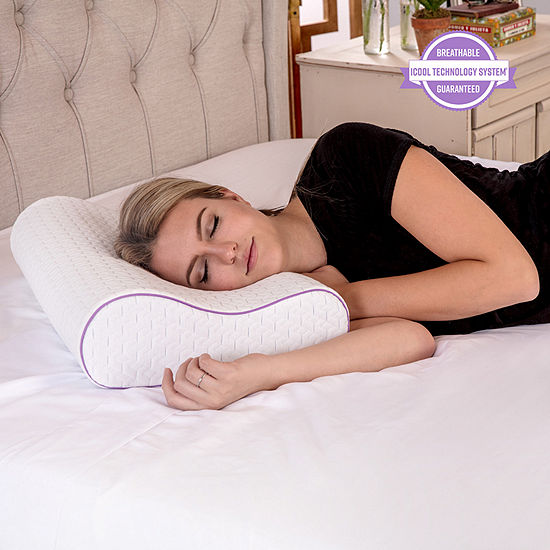 SensorPEDIC® Coolest Comfort Temperature Regulating Gel Infused Contour Memory Foam Pillow