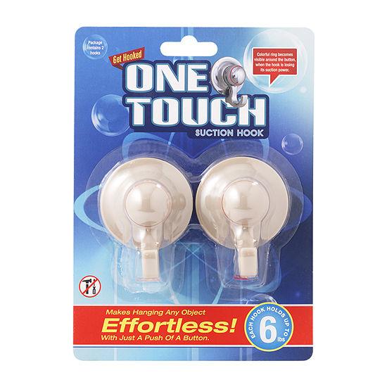 One Touch Hooks Linen Bathroom Organizer