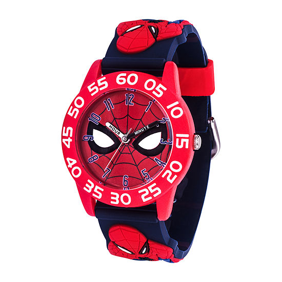 Marvel Spiderman Boys Blue Strap Watch-Wma000407