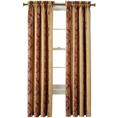 JCPenney Home Regan Light-Filtering Rod-Pocket Single Curtain Panel