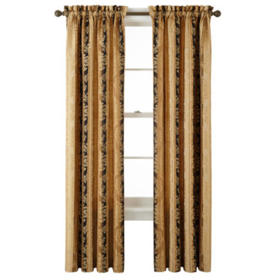 JCPenney Home Regan Light-Filtering Rod-Pocket Single Curtain Panel