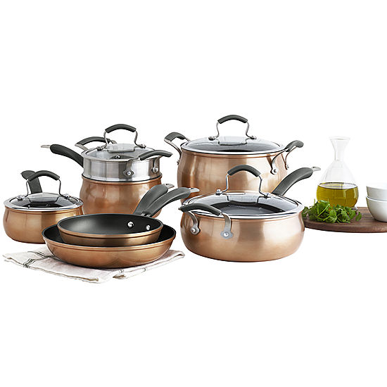 Epicurious 11-pc. Aluminum Dishwasher Safe Cookware Set a71d9e58c5