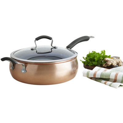 "Epicurious® Copper 11"" Aluminum Nonstick Jumbo Cooker with Lid"