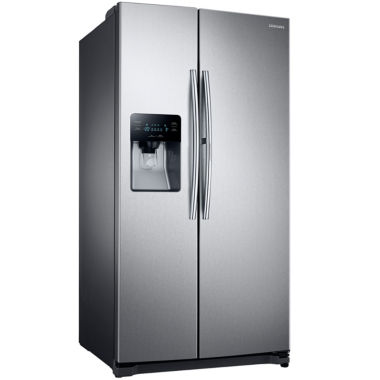 Samsung Side By Side samsung energy 247 cu ft side by side refrigerator with food