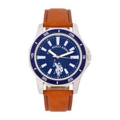 U.S. Polo Assn. Mens Orange Strap Watch-Usc50467jc