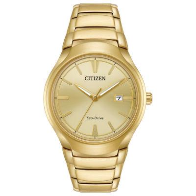 Citizen Mens Gold Tone Bracelet Watch-Aw1552-54p