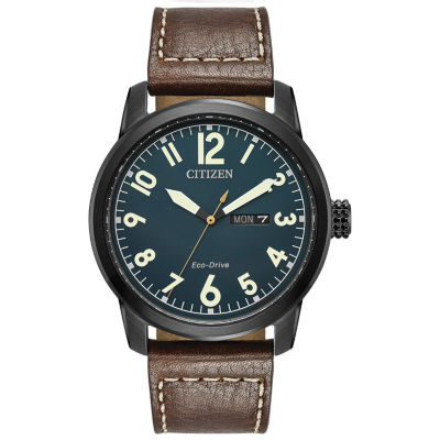 Citizen Mens Brown Strap Watch-Bm8478-01l