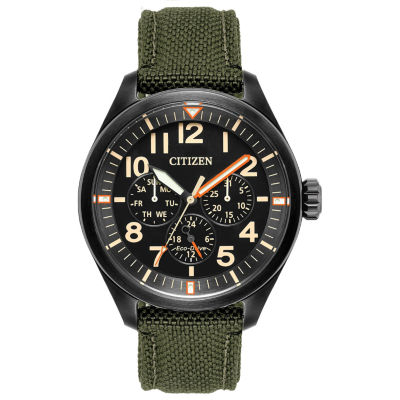 Citizen Mens Green Strap Watch-Bu2055-16e