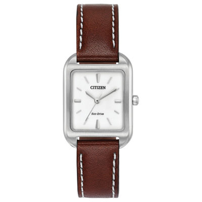 Citizen Womens Brown Strap Watch-Em0490-08a
