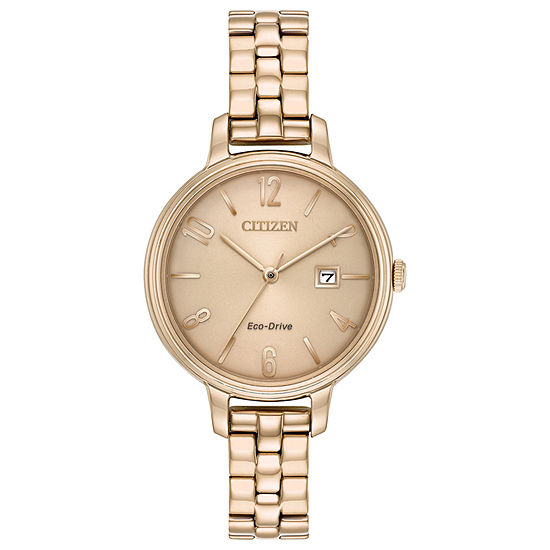 Citizen Chandler Womens Rose Goldtone Stainless Steel Bracelet Watch-Ew2443-55x