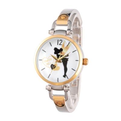 Disney Tinker Bell Womens Two Tone Bracelet Watch-Wds000065