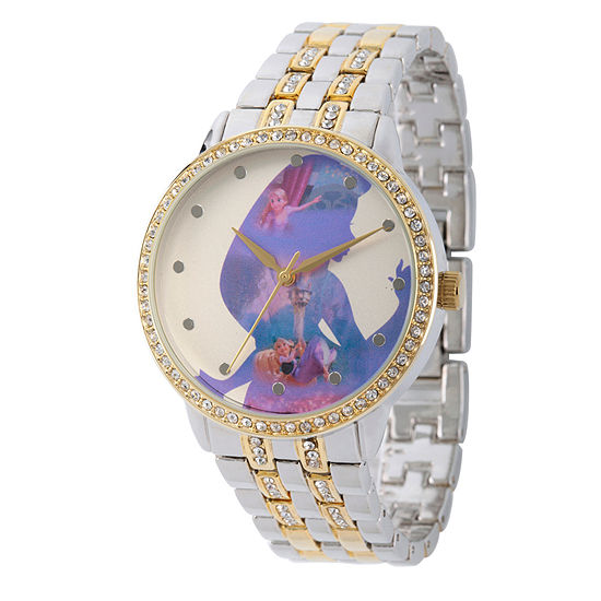 Disney Tangled Womens Two Tone Bracelet Watch Wds000068