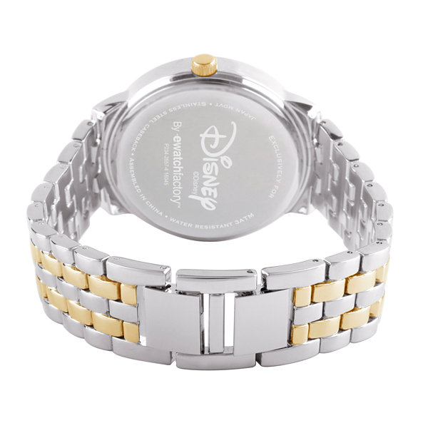 Disney Beauty and the Beast Womens Two Tone Bracelet Watch-Wds000069