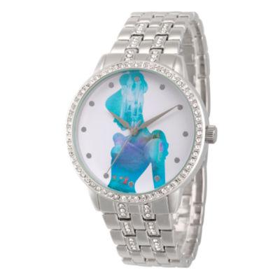 Disney Cinderella Womens Silver Tone Bracelet Watch-Wds000070