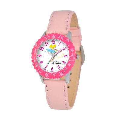 Disney Tinker Bell Girls Pink Strap Watch-W000067