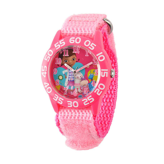 Disney Doc McStuffins Girls Pink Strap Watch-W001685