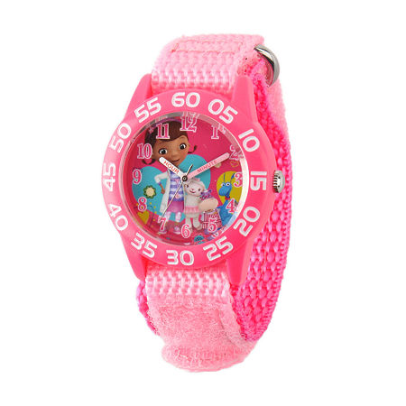 Disney Doc McStuffins Girls Pink Strap Watch W001685, One Size