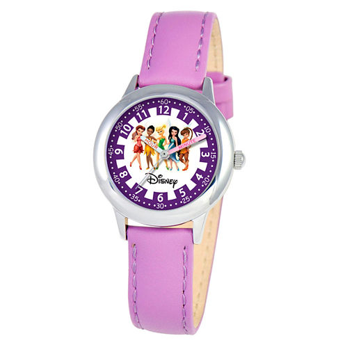 Disney Princess Girls Purple Time Teacher Watch-W000079