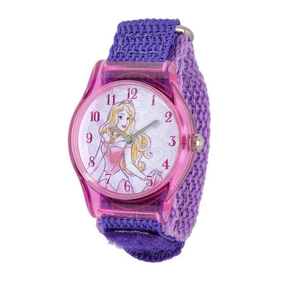 Disney Sleeping Beauty Girls Purple Strap Watch-W001703