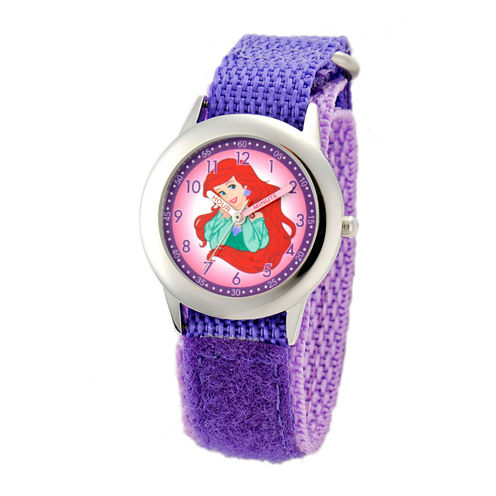 Disney The Little Mermaid Girls Purple Strap Watch-W001805