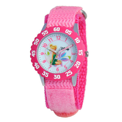 Disney Tinker Bell Girls Pink Strap Watch-W000269